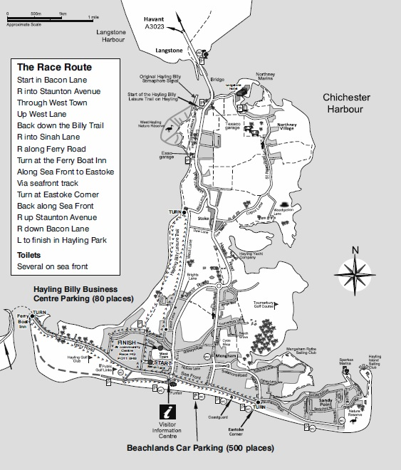Hayling 10 Mile Map